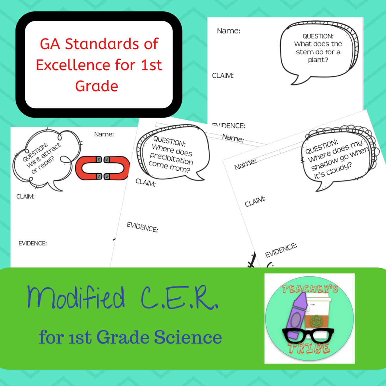 QCE - Modified CER Pack for First Grade Science