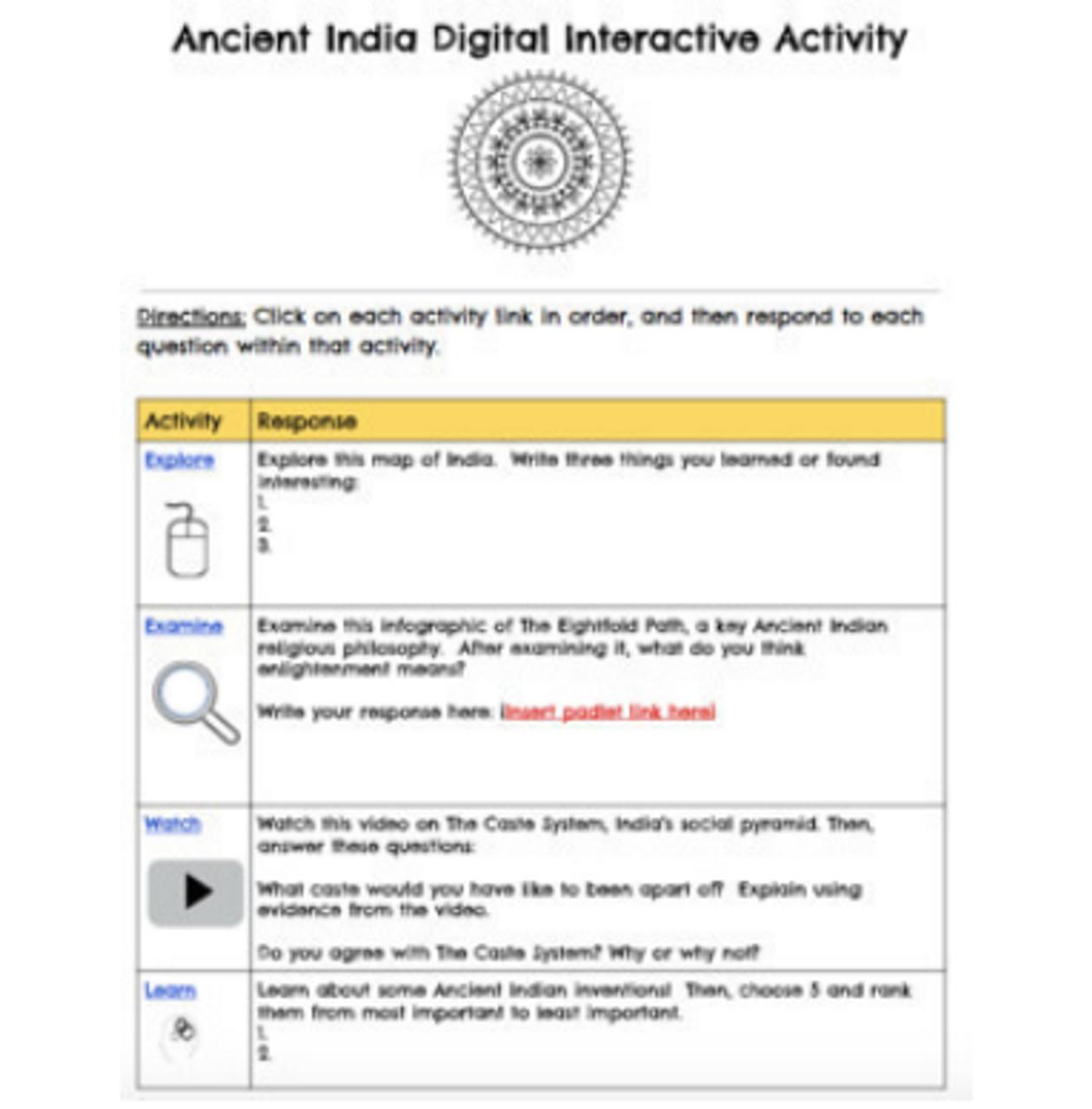 Ancient Civilizations Hyperdoc Bundle