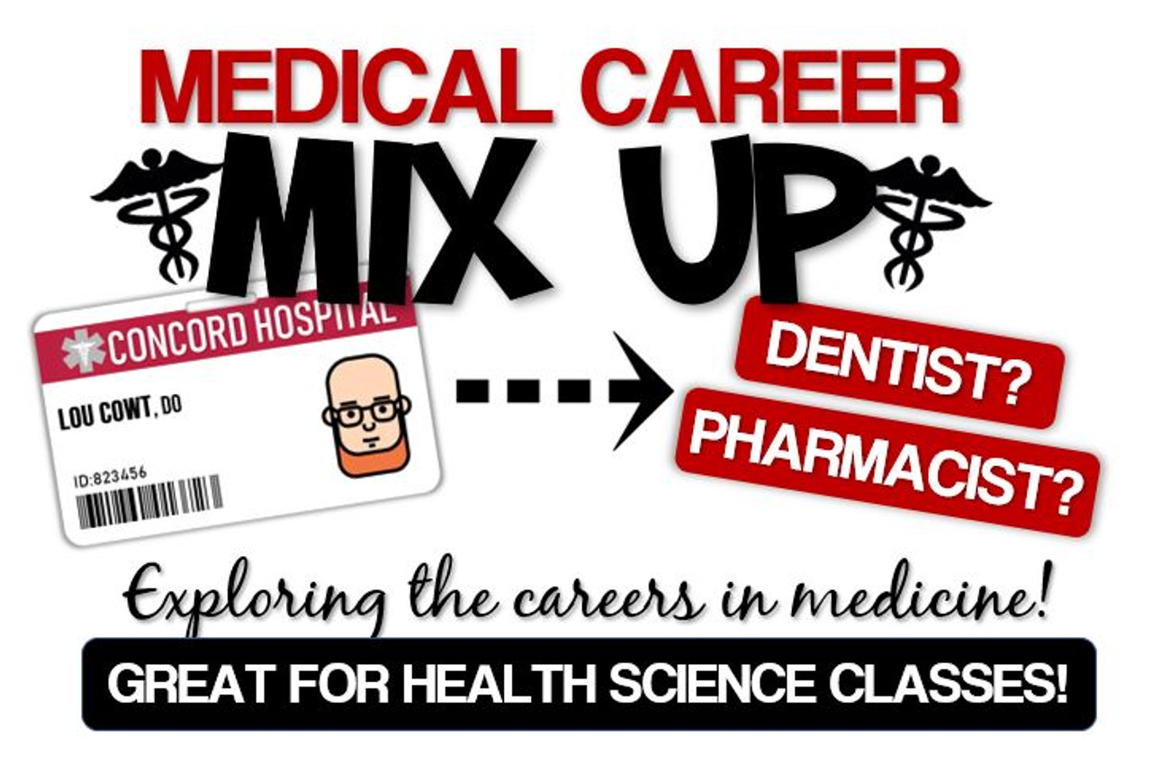 Medical Career Mix-up- Great for Health Science Classes! Distance Learning Option!