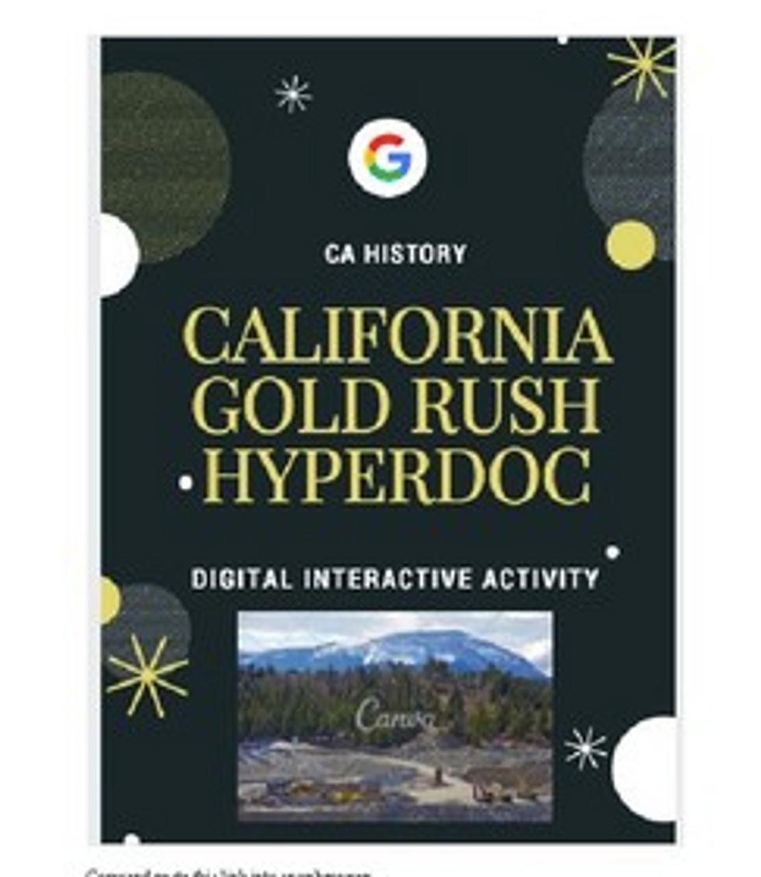 California Gold Rush Hyperdoc