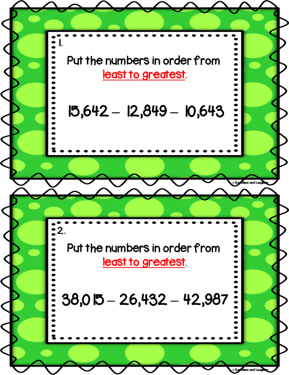 Number Order Scoot - 10,000's