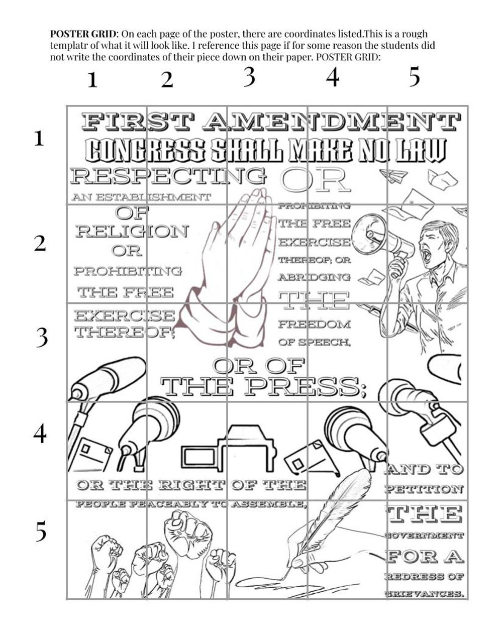 First Amendment Collaborative Poster