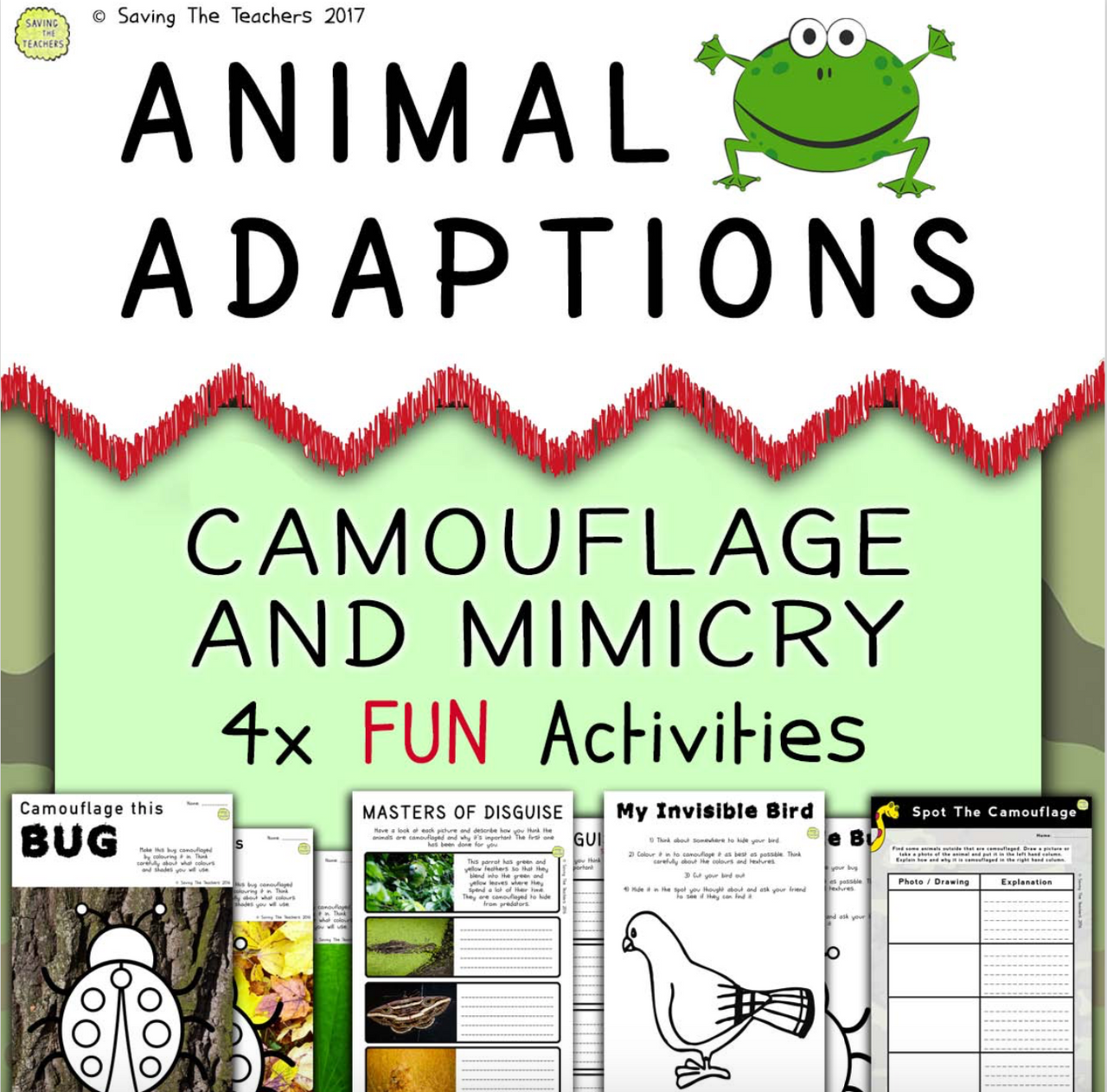 Animal Adaptations: Camouflage and Mimicry Activities
