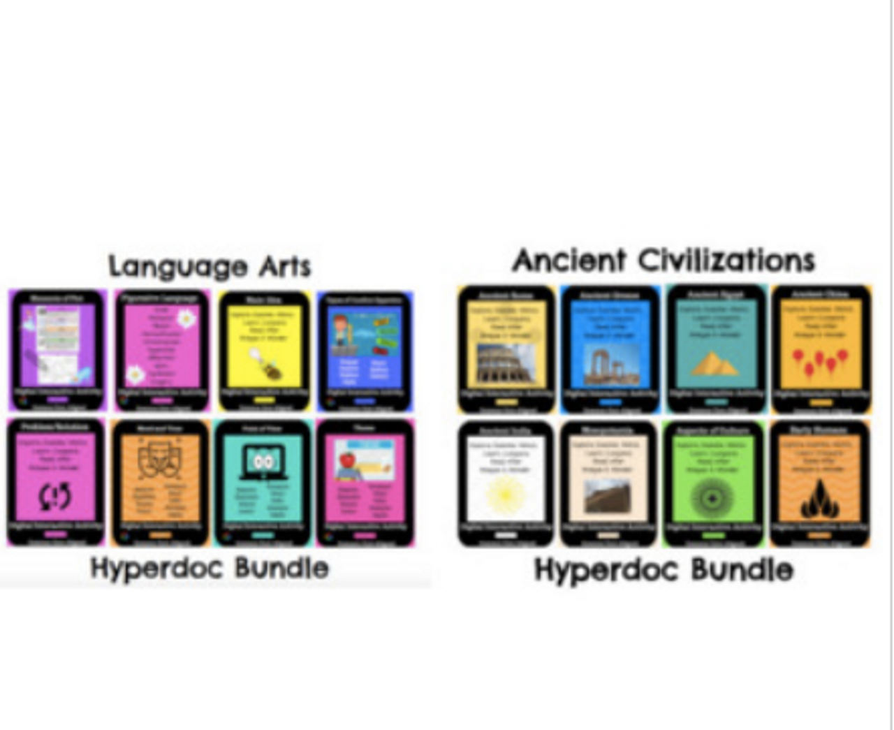 ELA and Social Studies Humanities Hyperdoc Bundle