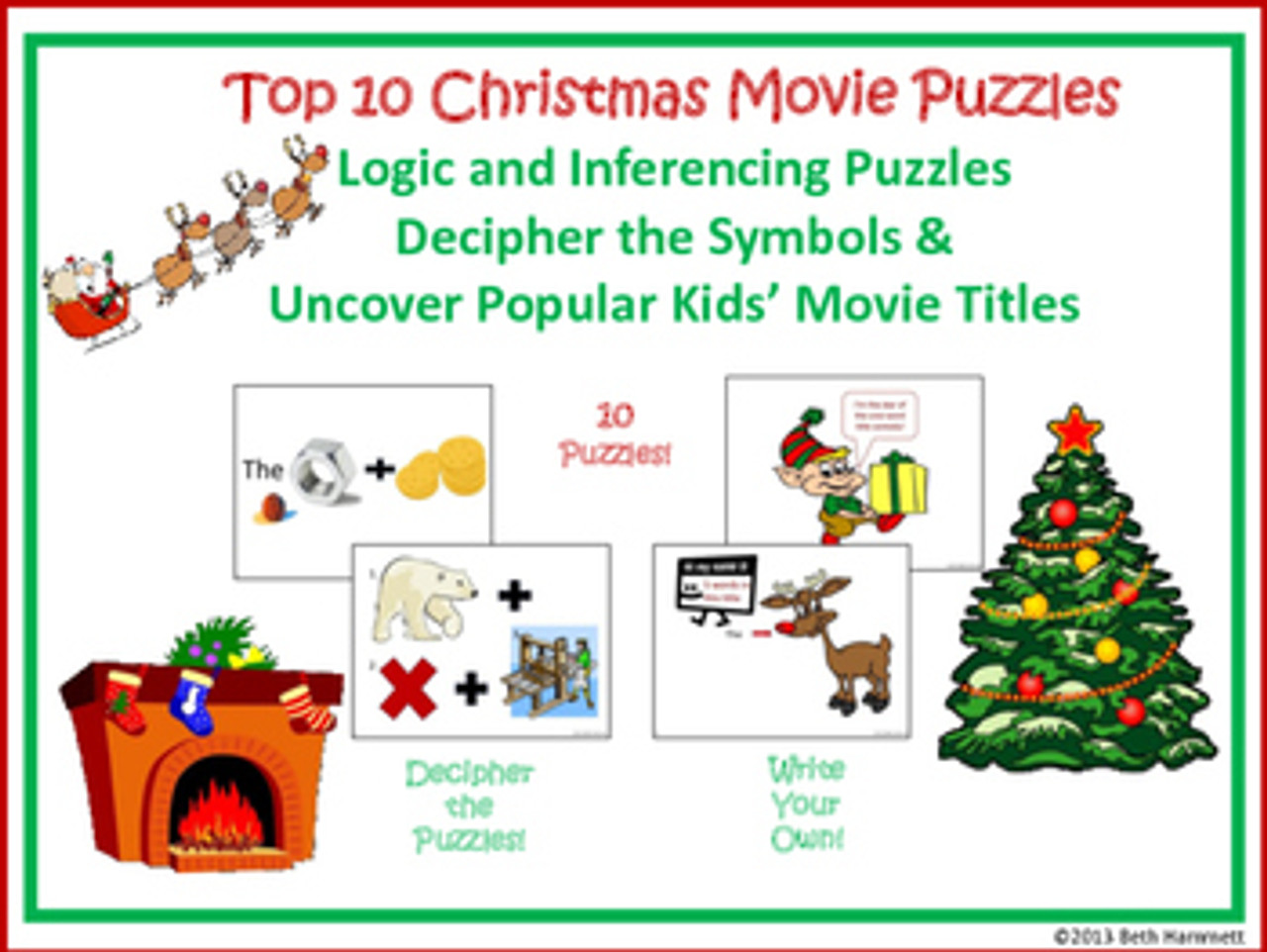 Top Ten Christmas Movies Puzzles - FREE