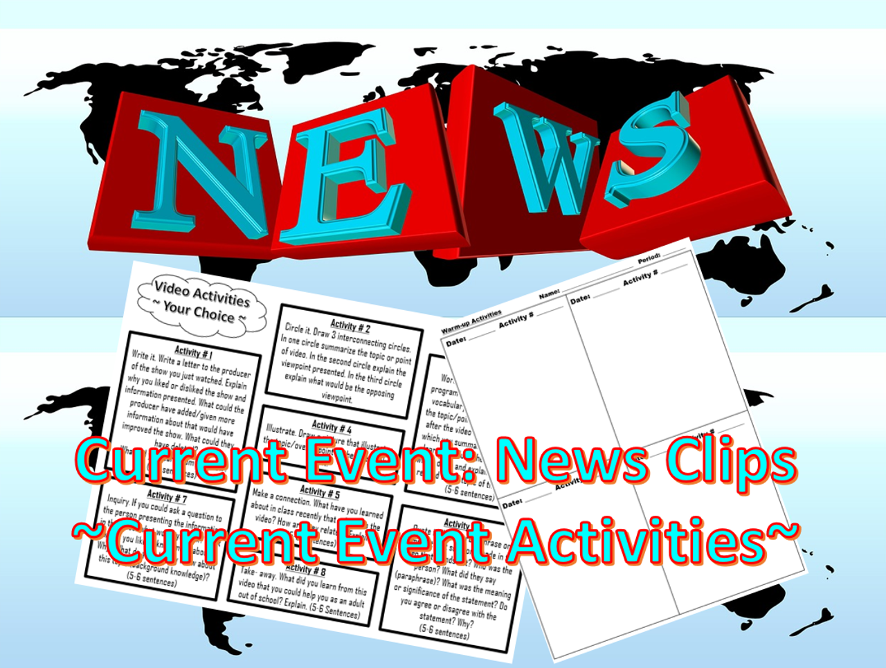 Current Event: News Clips ~Current Event Activities~