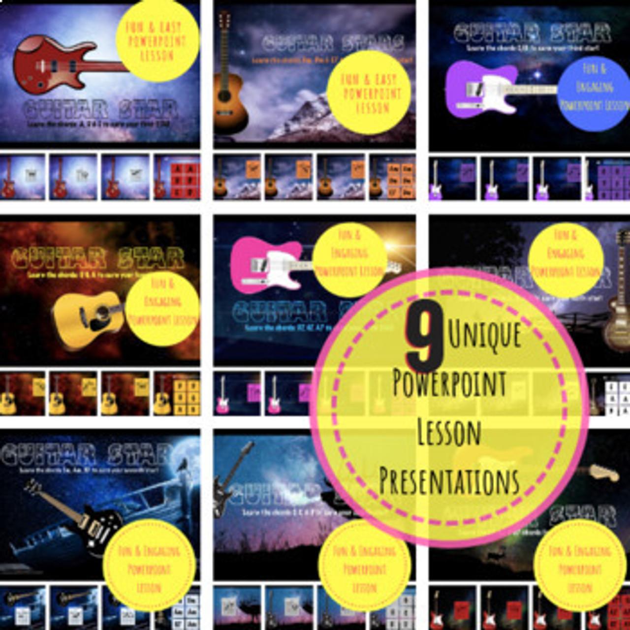 GUITAR STAR! Curriculum - Lessons 1-9