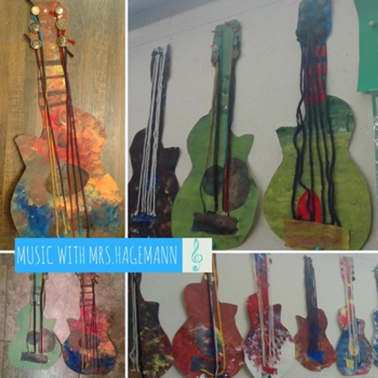 PAPER GUITARS- a 5 Lesson Music Guitar Anatomy Unit