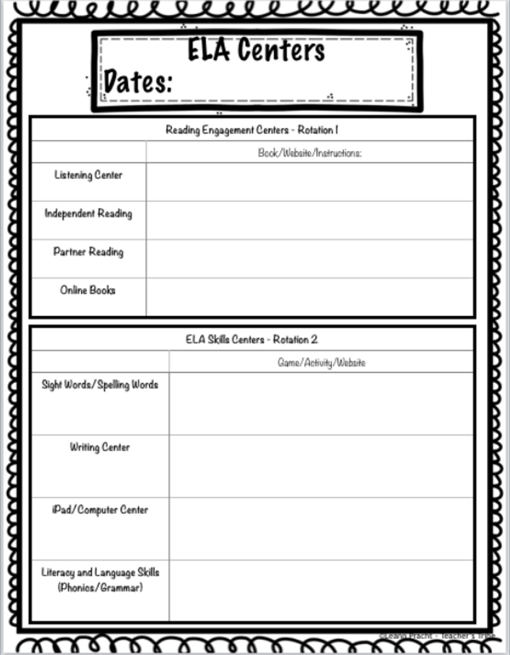 Ultimate Centers and Guided Groups Planning Kit (ELA and Math)