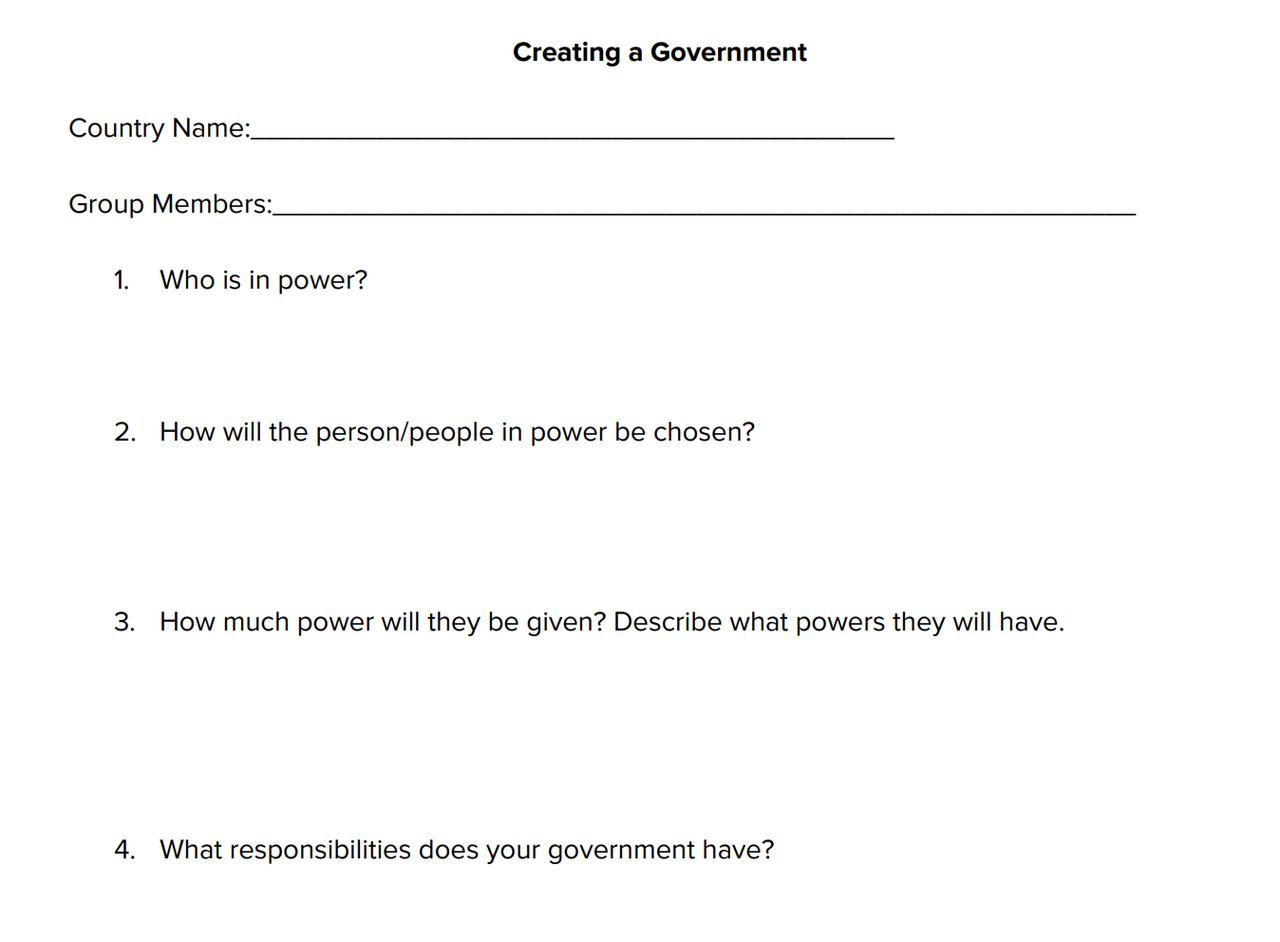 Create a Government