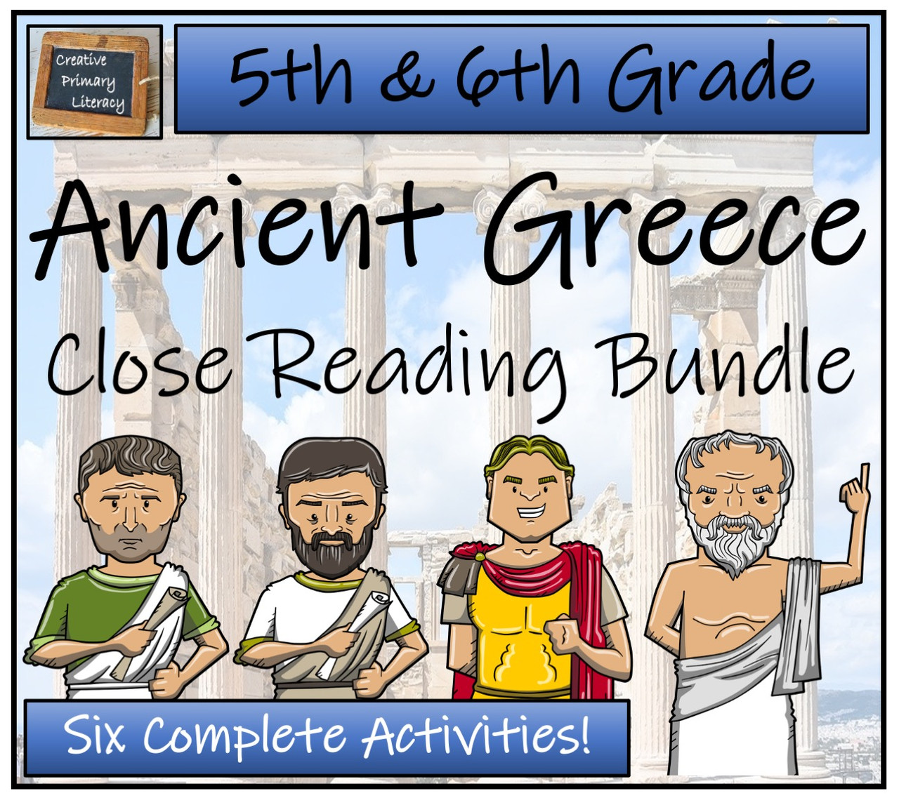 Ancient Greece Close Reading Activity Bundle 5th Grade & 6th Grade
