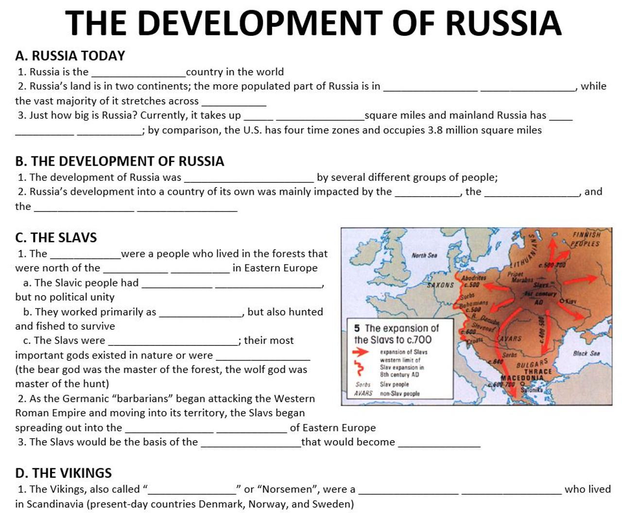Development of Russia