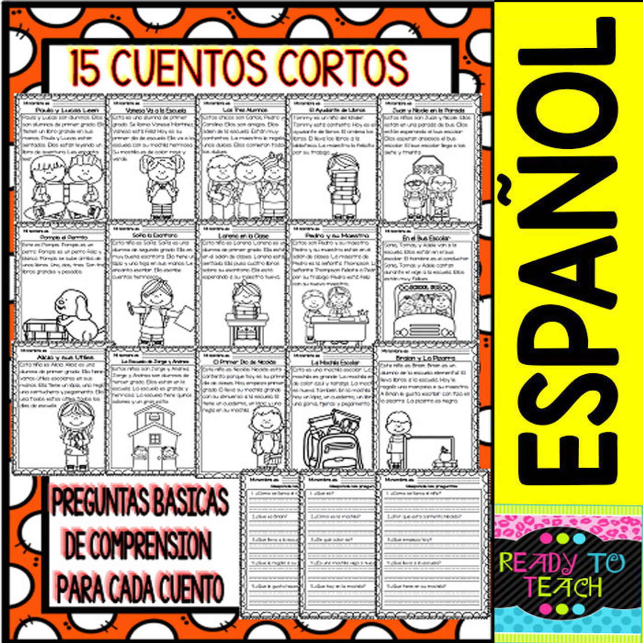 Easy Reading for Reading Comprehension in Spanish - September Set