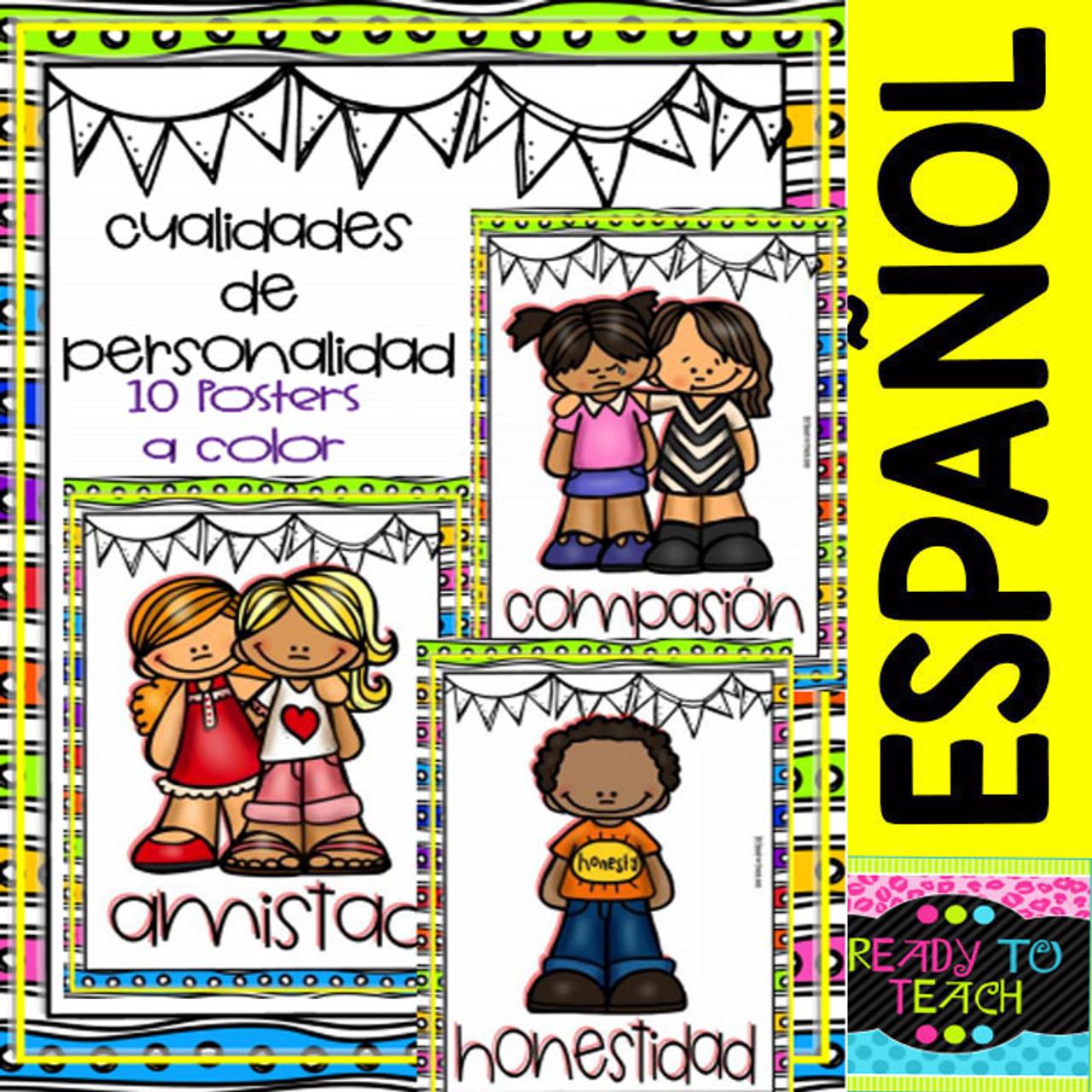 Cualidades de la Personalidad - Posters en Español a Color