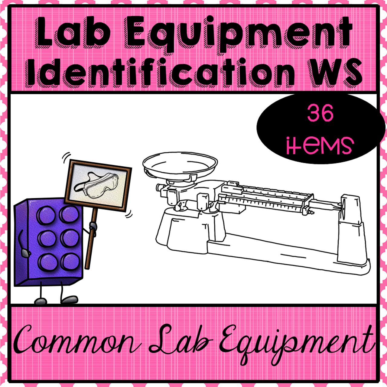 Lab Equipment Identification Worksheets. 36 items!