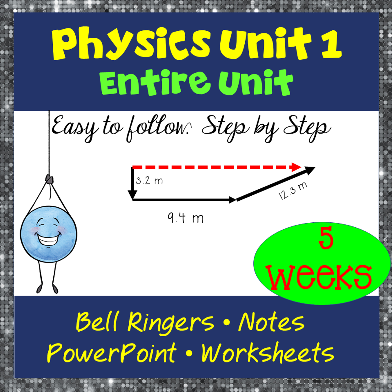 Physics Unit 1 Graphing & 1 D Kinematics: The total bundle!