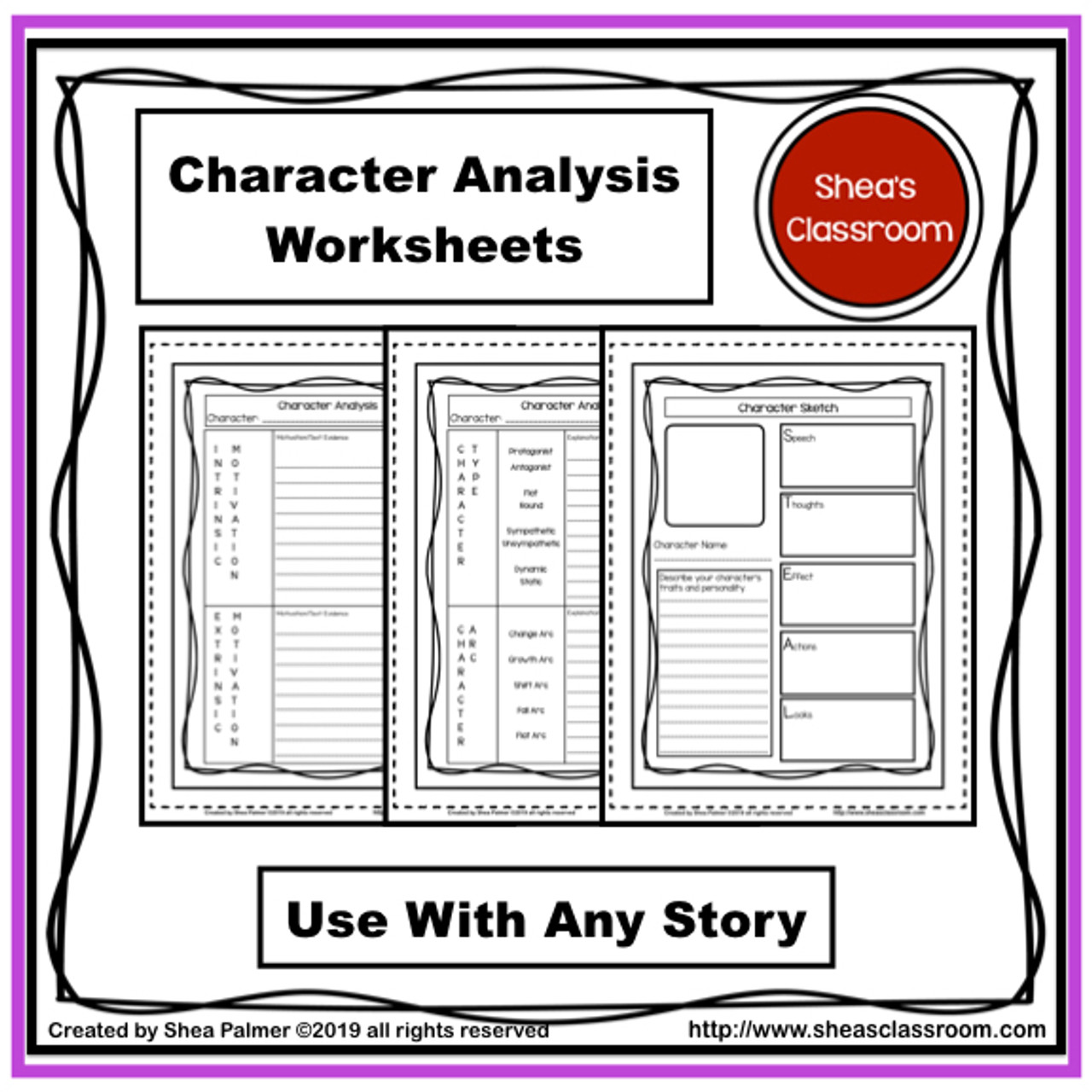 Character Guided Notes Resource