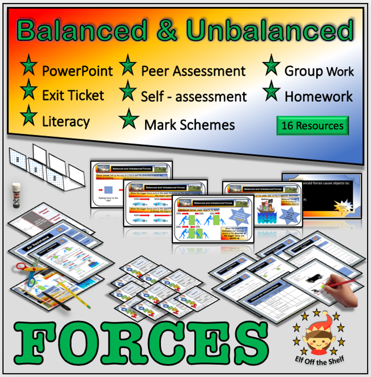 Forces - Balanced and Unbalanced Forces Explained - Middle School Science