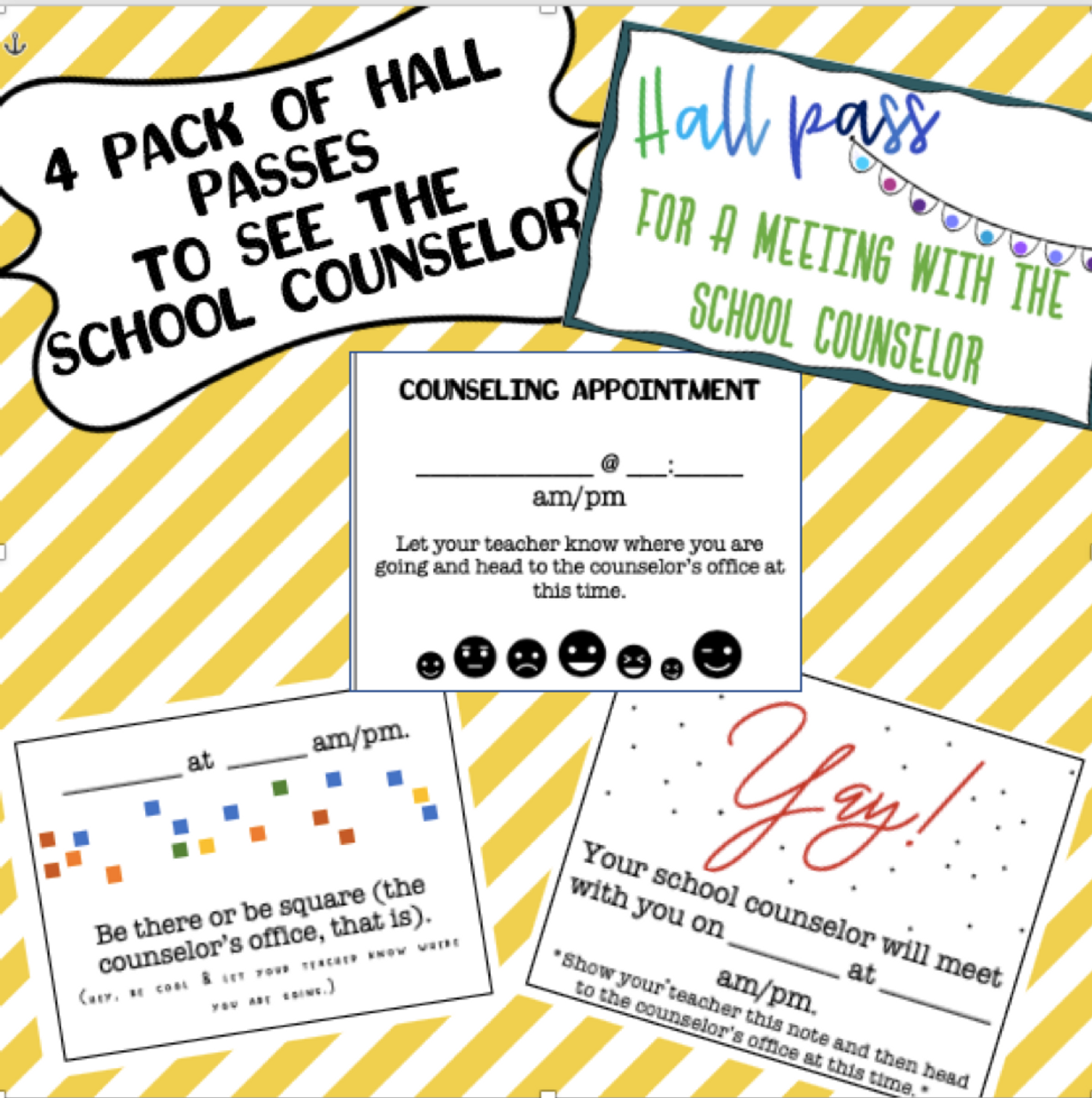 Request to see the Counselor Tickets (Hall Passes)