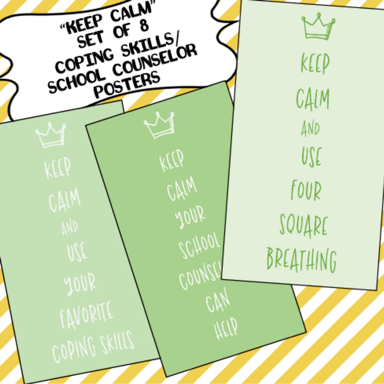 KEEP CALM Poster Set (School Counselor Posters)