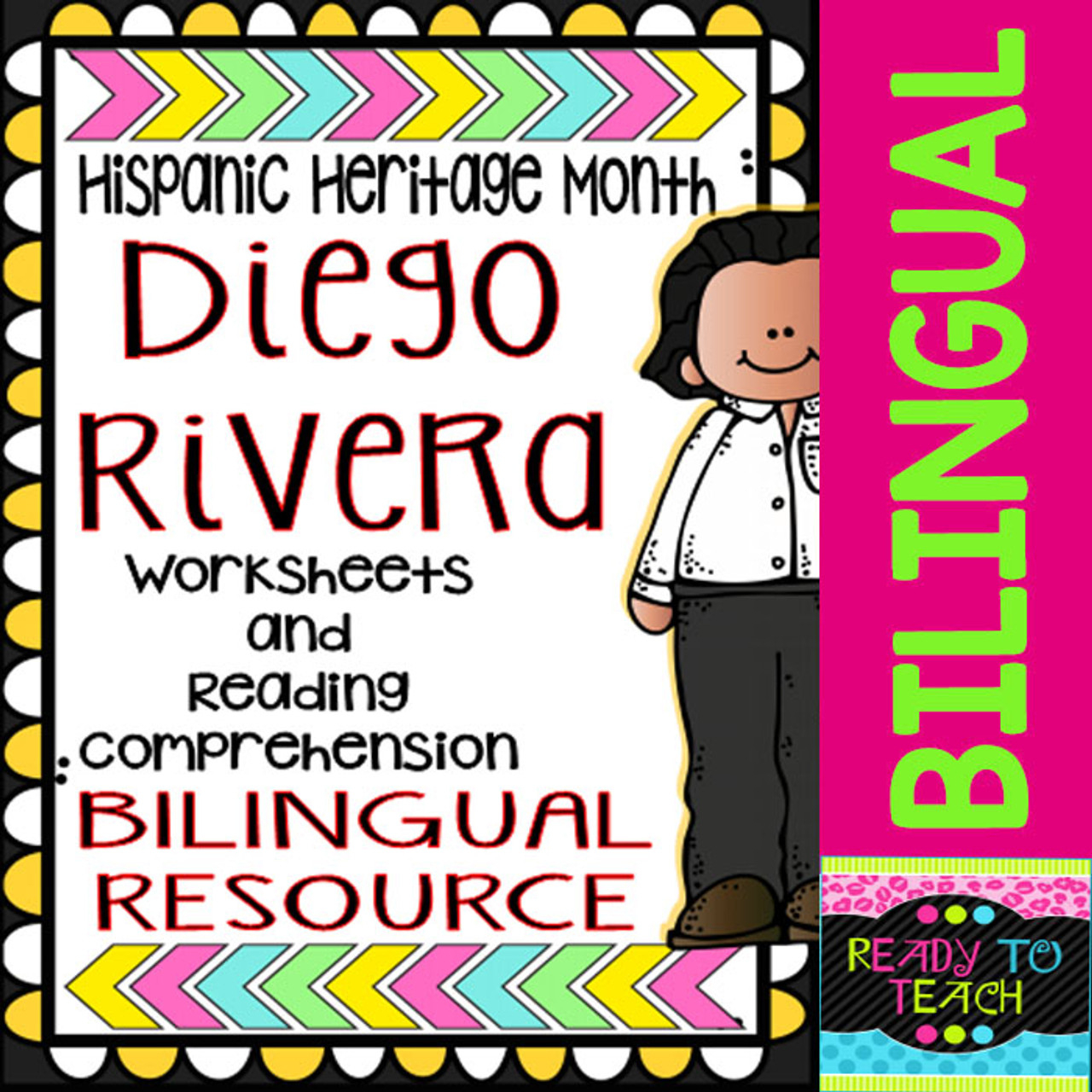 Hispanic Heritage Month Diego Rivera Worksheets And Readings Bilingual Amped Up Learning