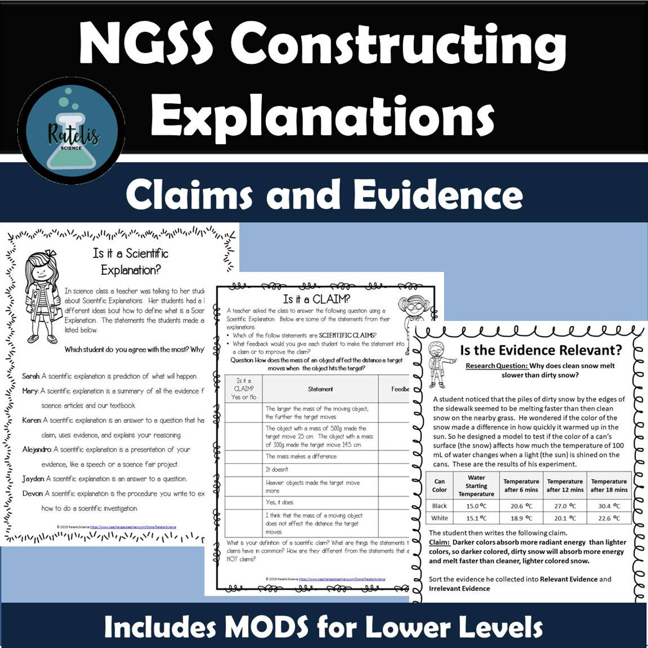 NGSS Constructing Explanations:Claims and Evidence
