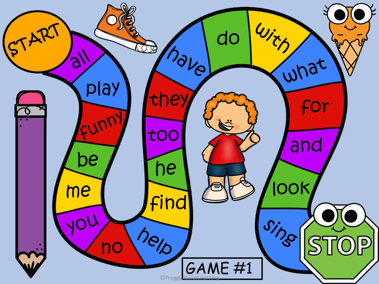 The students can use these game boards to practice the words  and enjoy reviewing.