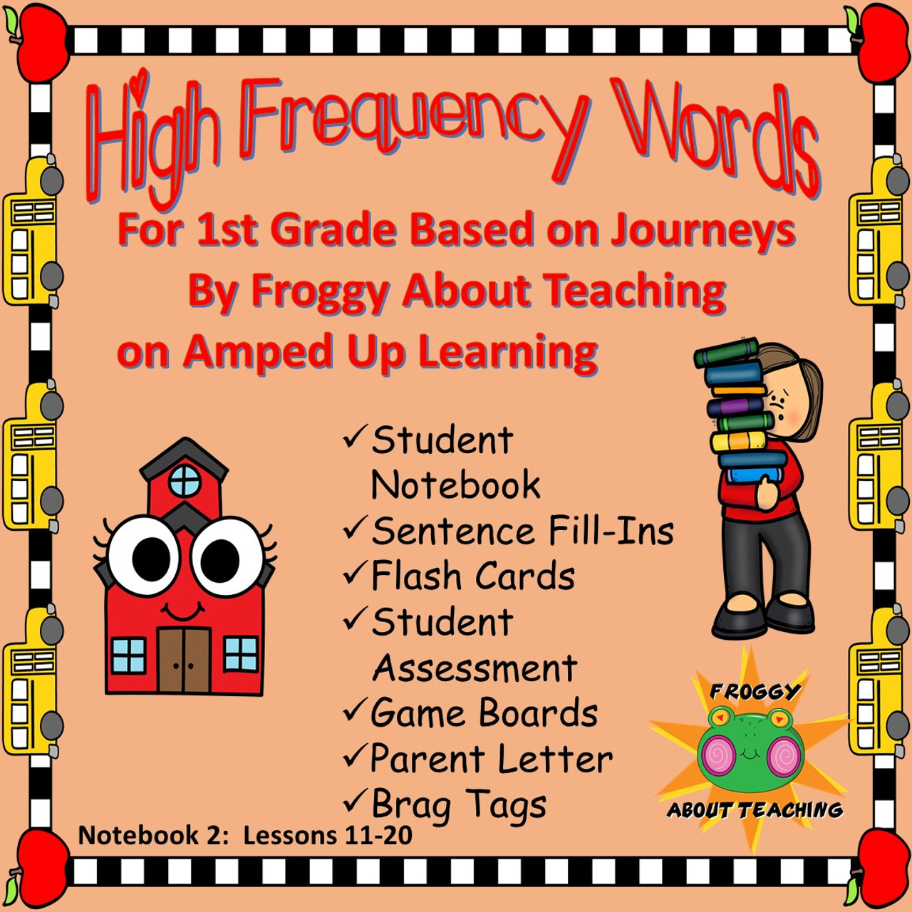 1st g. High Frequency Words: Notebook 2 (Journeys L11-20)