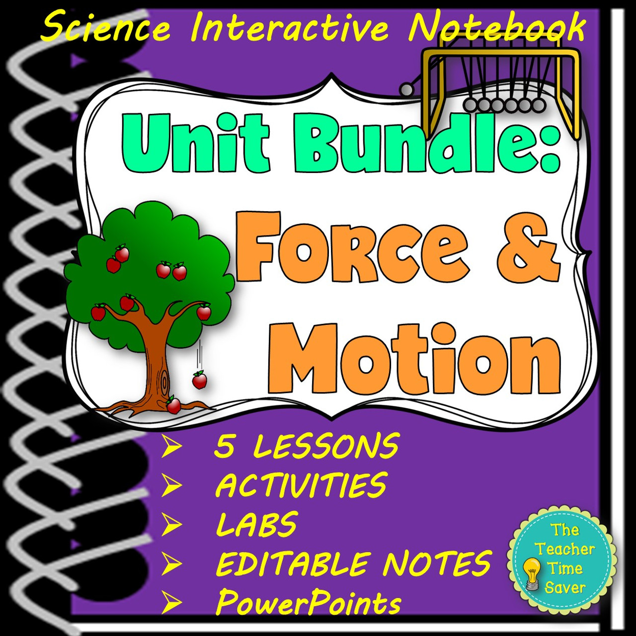NEWTON'S LAWS OF MOTION- FORCE AND MOTION INTERACTIVE NOTEBOOK BUNDLE