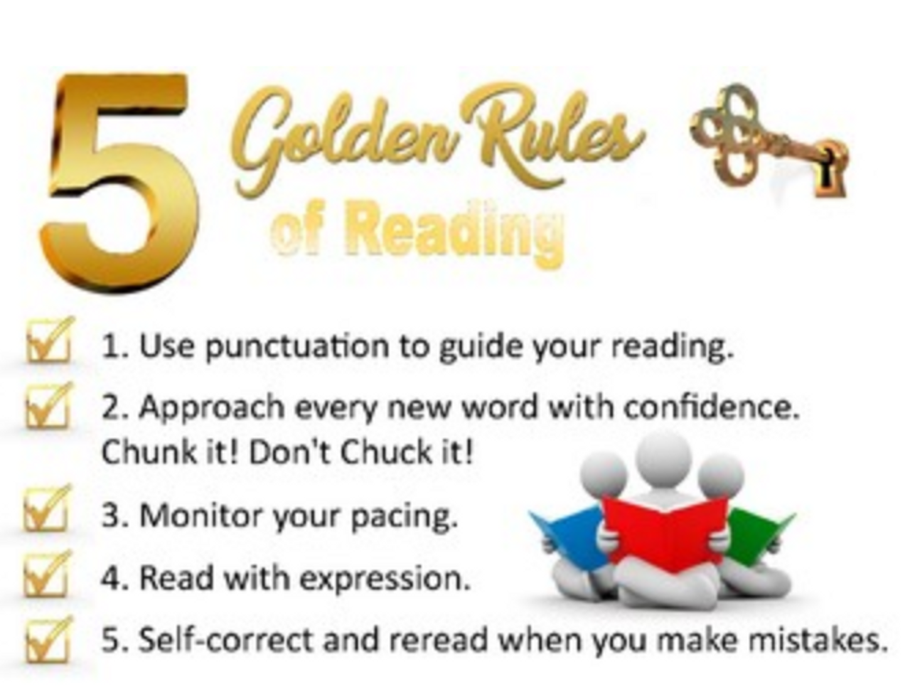 5 Golden Rules of Reading Poster