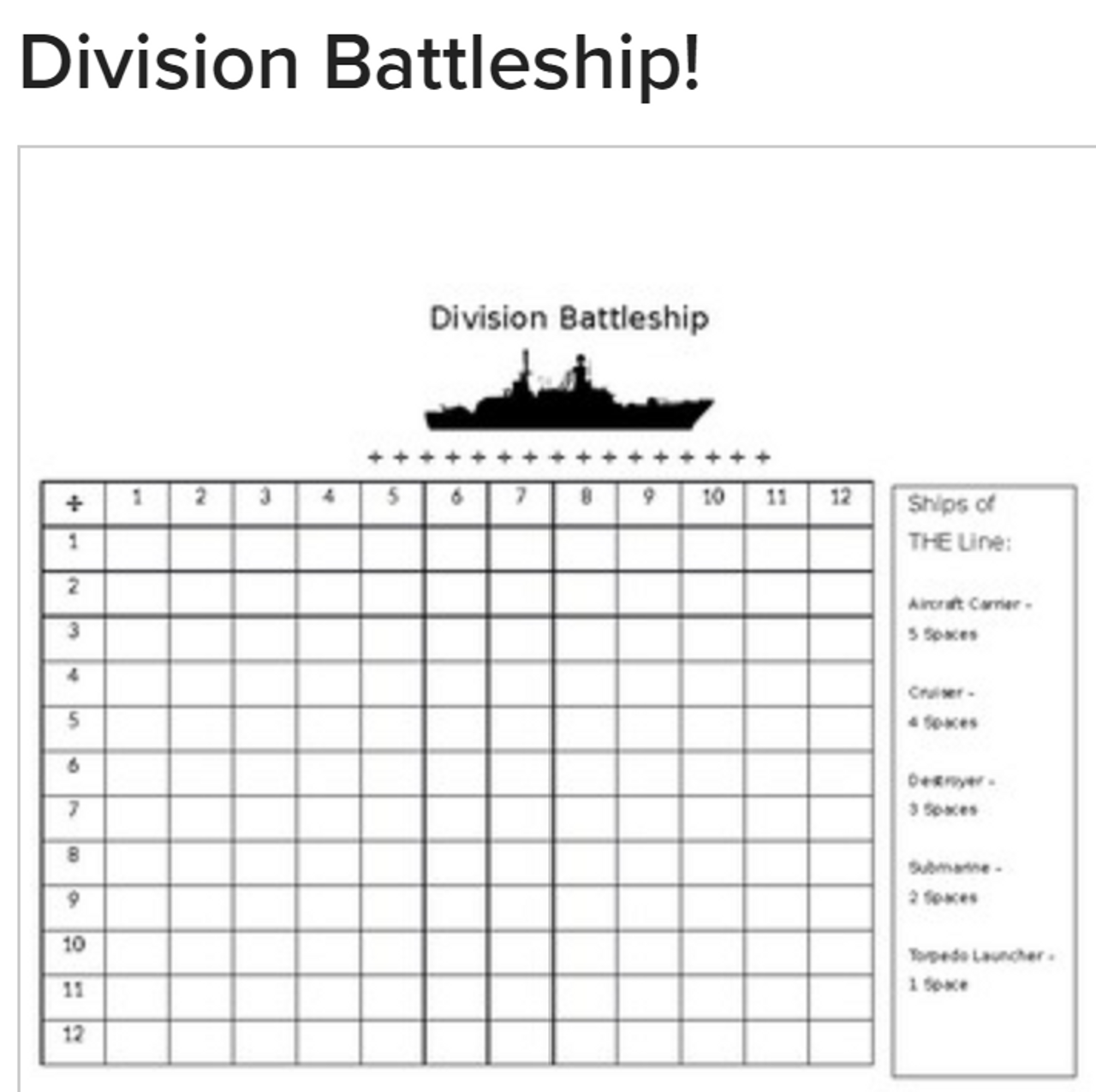 Division Battleship