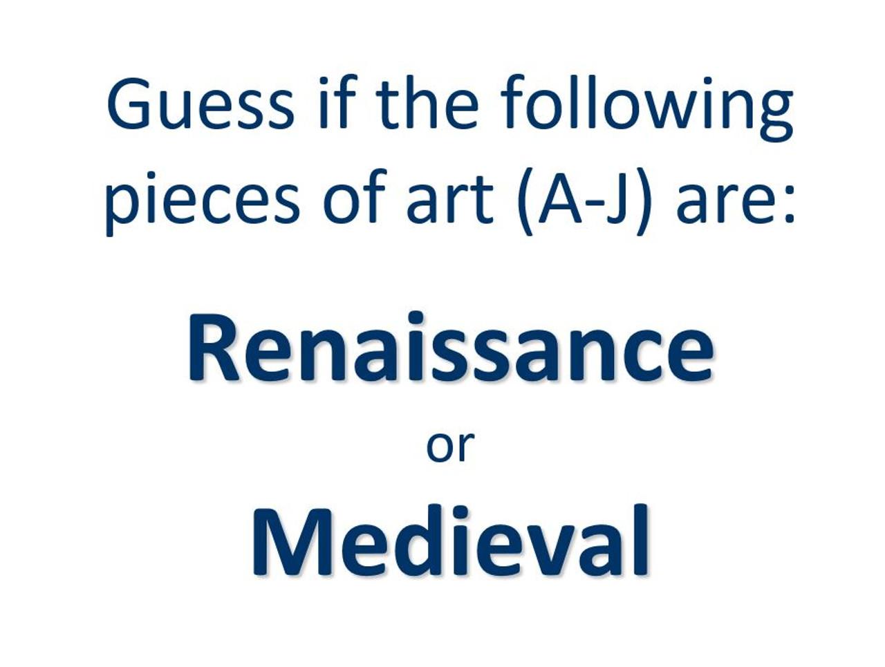 Artists of the Renaissance