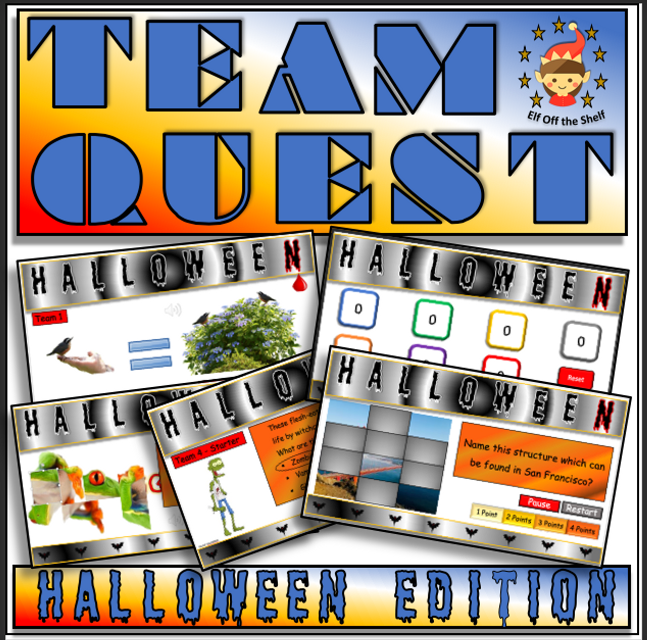Halloween Team Quest for Middle School