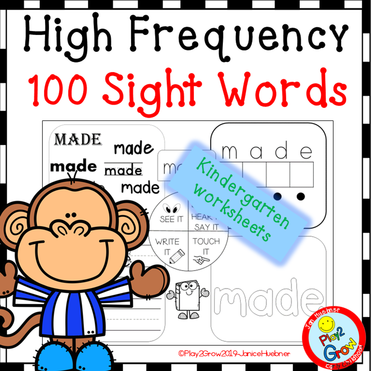 High Frequency Sight Words - 100 words  :)
