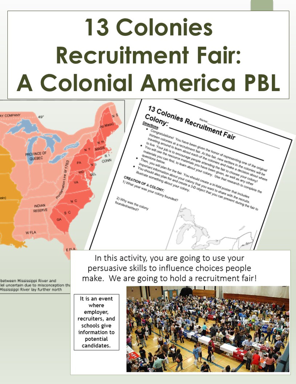 13 Colonies Recruitment Fair: A Colonial America PBL