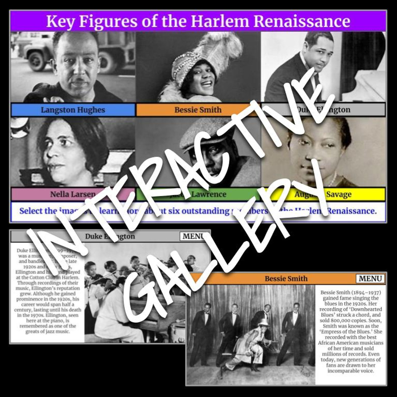 Interactive Gallery: African American Achievers and the Harlem Renaissance