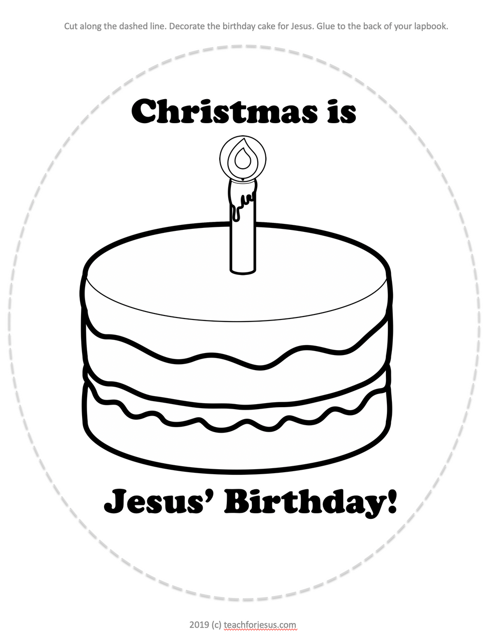 Christmas Jesus' Birthday Cake