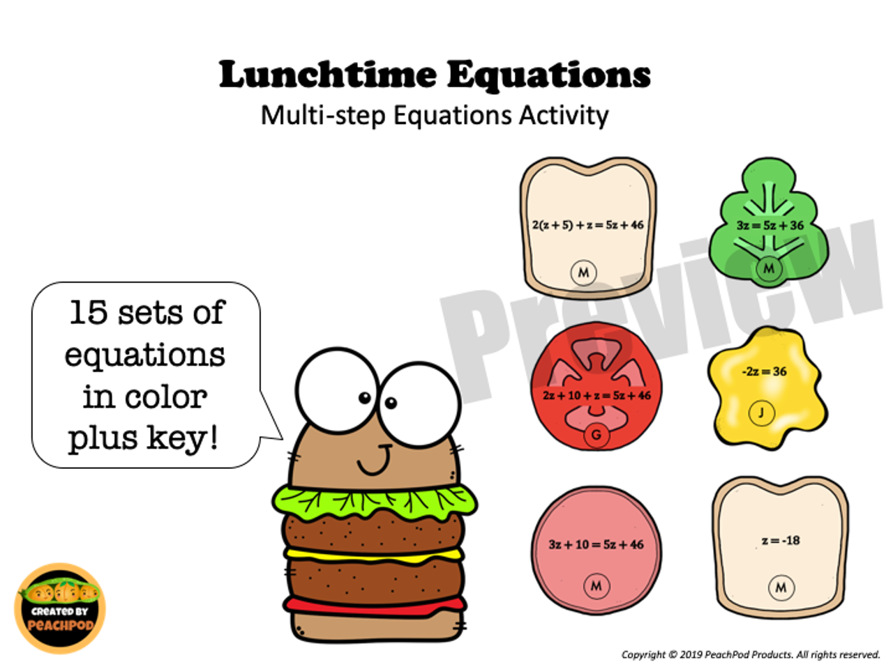 Holiday Party Walk Inequalities - Activity + Worksheet