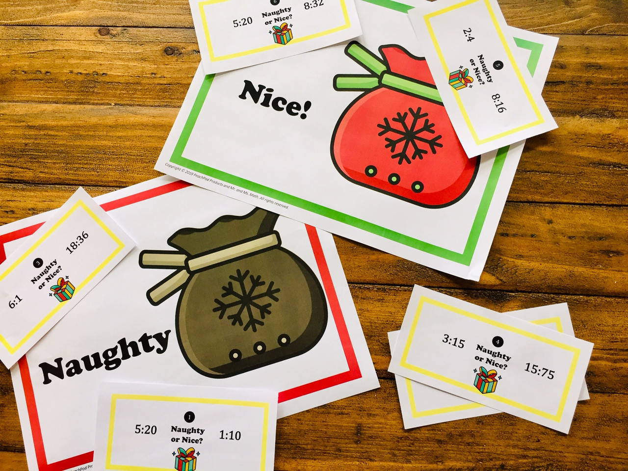 Naughty or Nice Ratios: Comparing Ratios Station/Task Cards