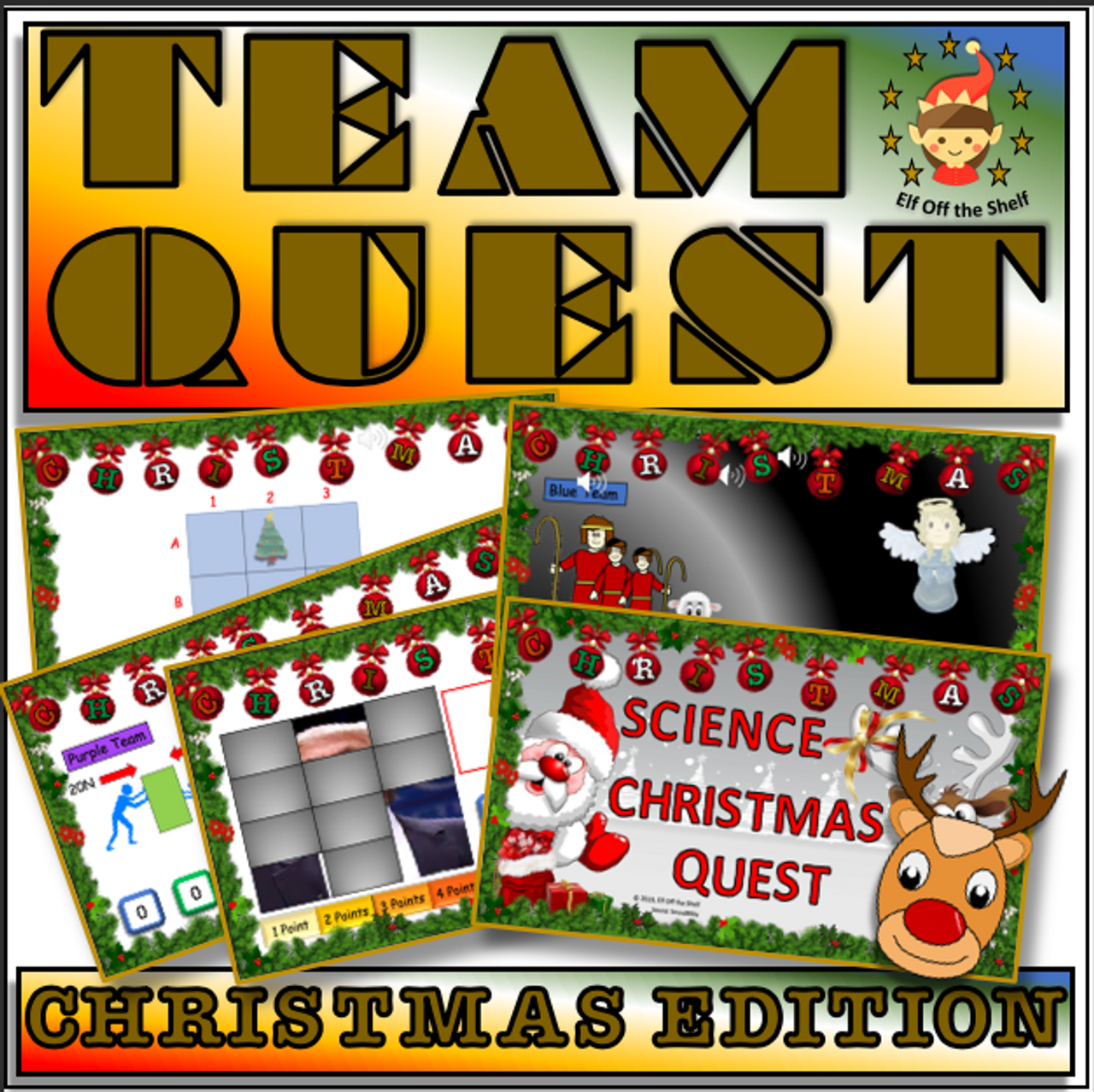 Christmas Team Quest - Science Quiz for Middle school