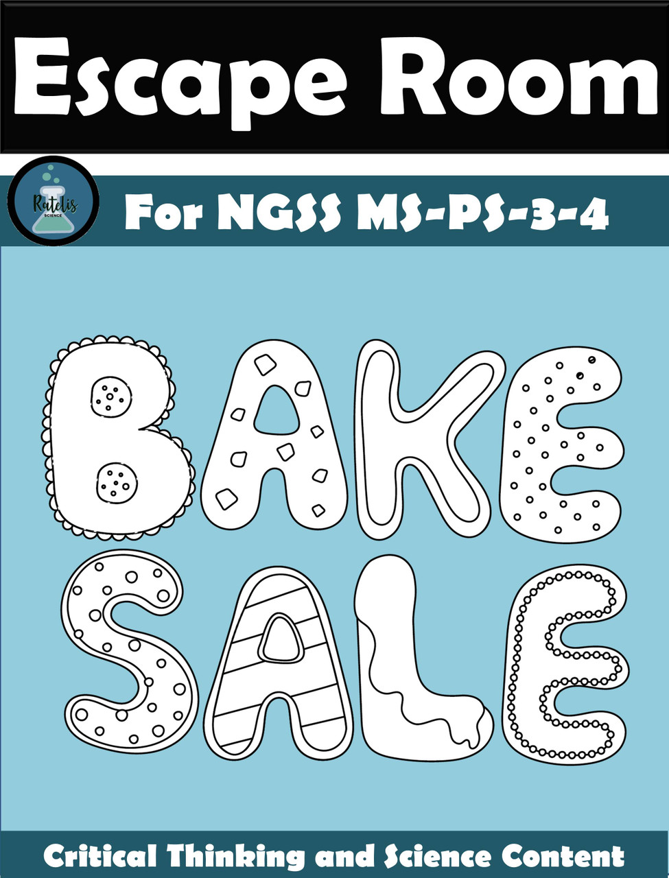 "Escape Room: Thermal Energy NGSS MS PS-3-4 ""Bake Sale"""