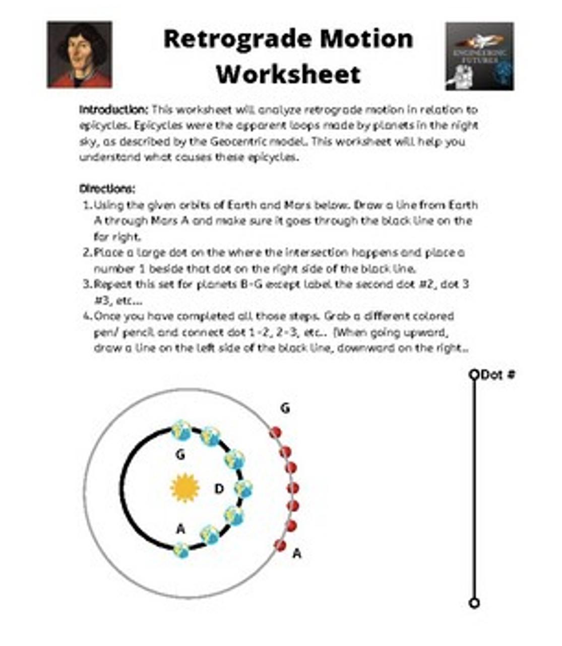 Retrograde Motion Worksheet