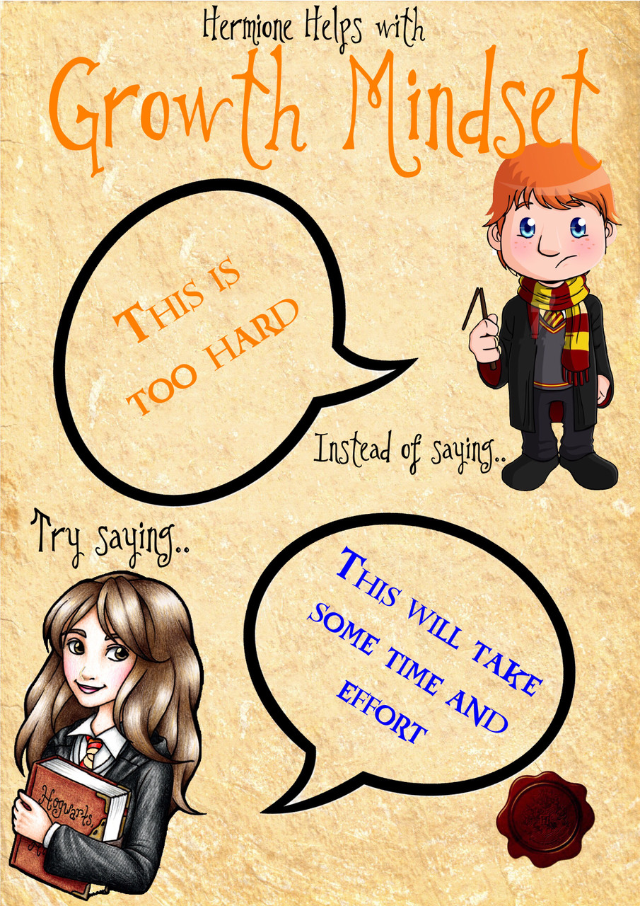 Hermione Granger helps students change their mindset and shows ways to look at failures in a positive way.