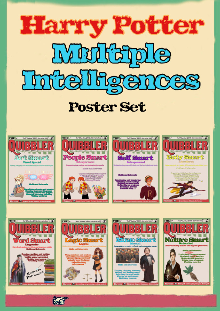 Harry Potter Multiple Intelligences Poster Collection