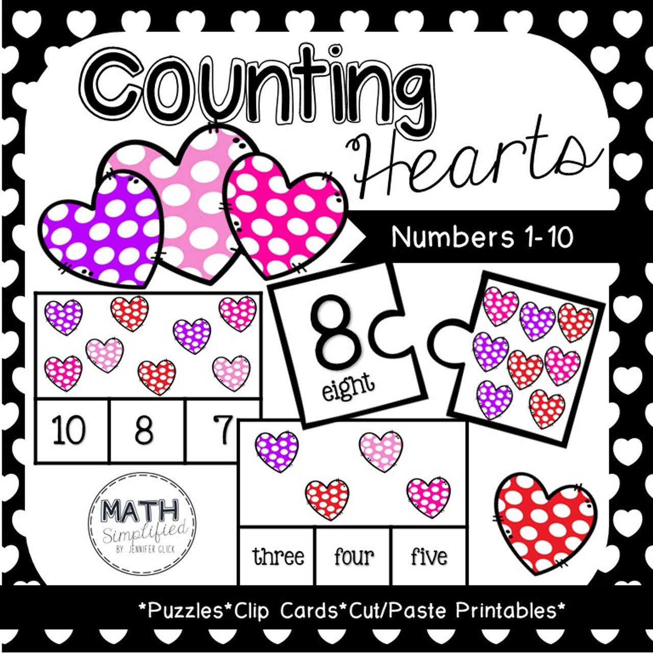 Counting Hearts: Number Recognition #1-10