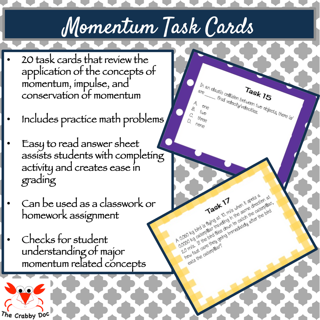 Momentum Task Cards Amped Up Learning
