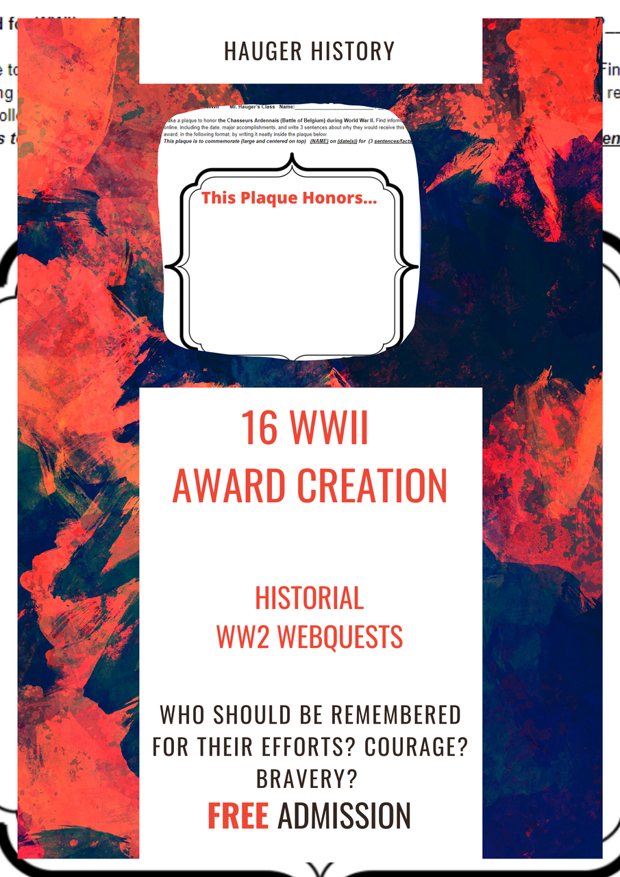 Making Plaques for Major Accomplishments and Soldiers in World War II