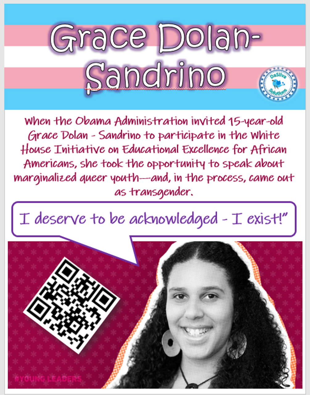 Black History Month - interactive posters:  video, writing, facts, etc.!