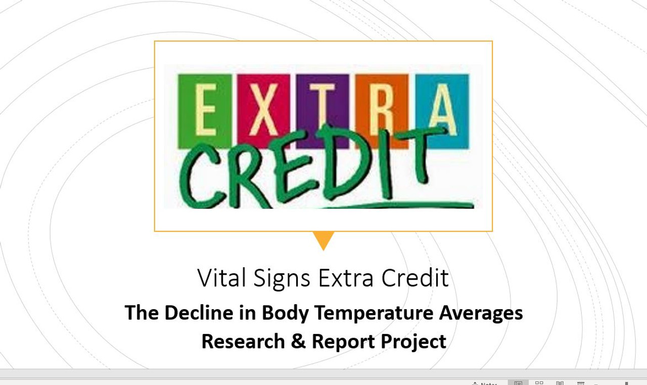 Vital Signs EXTRA CREDIT Assignment