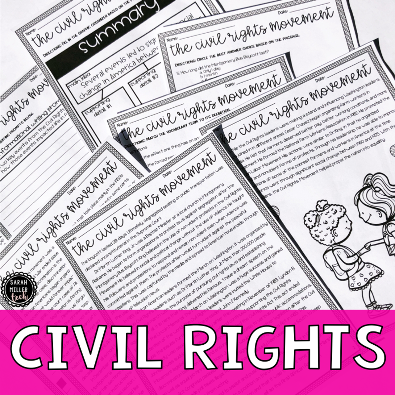 Civil Rights Movement Reading Activity (SS5H6)
